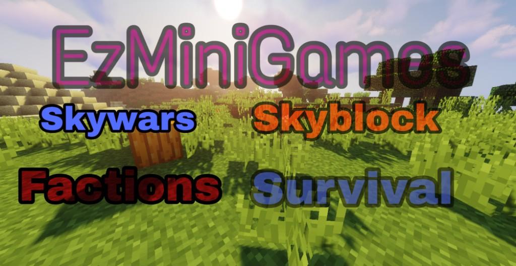 Banner for EzMiniGames Factions Minecraft server