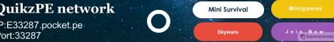 Banner for QuikzPE Minecraft server