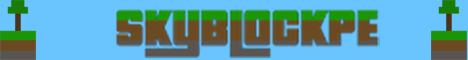 Banner for SkyBlockPE Minecraft server