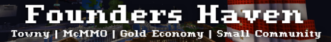 Banner for Founder's Haven server