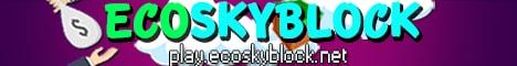 Banner for EcoSkyblock Minecraft server