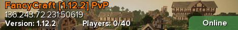 Banner for FancyCraft 1.12.2 [PvP] Jobs/ECONOMY Minecraft server