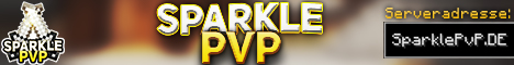 Banner for SparklePvP.DE - PvP, Casino/Gambling, Gelddrucker, Clans Minecraft server