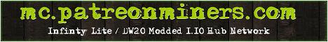 Banner for PatreonMiners 1.10 Modded Hub server