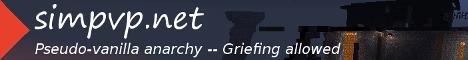 Banner for simpvp.net Survival Griefing server