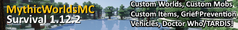 Banner for MythicWorldsMC server