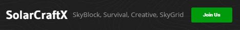 Banner for SolarCraftX server