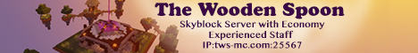 Banner for The Wooden Spoon Skylands Survival Server Minecraft server