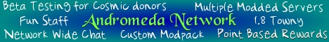 Banner for Andromeda Network Minecraft server