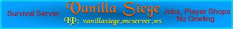 Banner for Vanilla Siege server