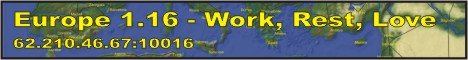 Banner for Europe real map server