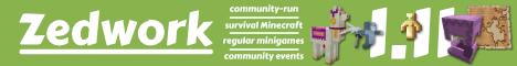 Banner for Zedwork Zurvival Minecraft server