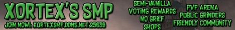 Banner for Xortex's SMP Minecraft server