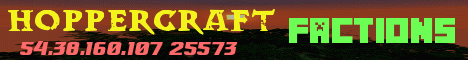 Banner for HopperCraft server