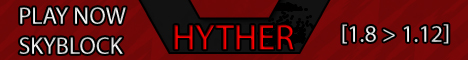 Banner for Hyther Skyblock Minecraft server