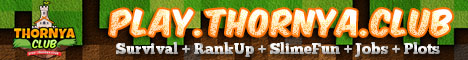 Banner for [Thornya] - 1.16.1 - Survival - Plots - RankUp - SlimeFun Minecraft server