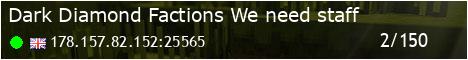 Banner for Dark Diamond Factions! we need staff server