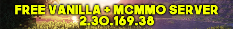 Banner for KIMCHI MCMMO Survival Friendly Community 24/7 Minecraft server