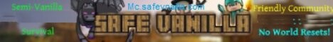 Banner for Safe Vanilla server
