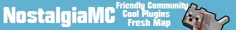 Banner for NostalgiaMC Minecraft server