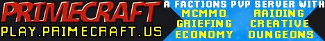 Banner for PrimeCraft server
