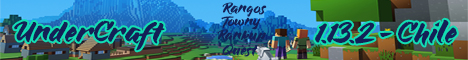 Banner for 1.13.2 UnderCraft | Towny | Quest | Ranks | Rankup Minecraft server