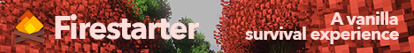 Banner for Firestarter - A 1.14.4 Survival Realm! server