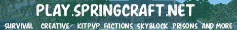 Banner for SpringCraft server
