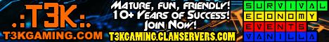 Banner for T3K Minecraft Survival server