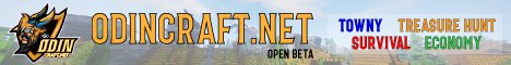 Banner for ★ OdinCraft Networks - Towny/Skyblock/Factions/Events ★ server