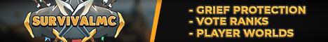 Banner for SurvivalMC | 1.8.1-1.13.2 | Grief-Prevention server