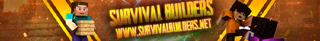 Banner for Survival Builders server