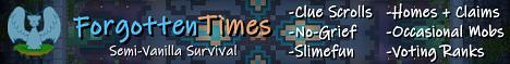 Banner for Forgotten Times server