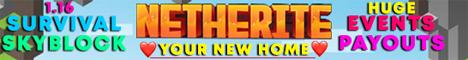 Banner for Netherite Skyblock server