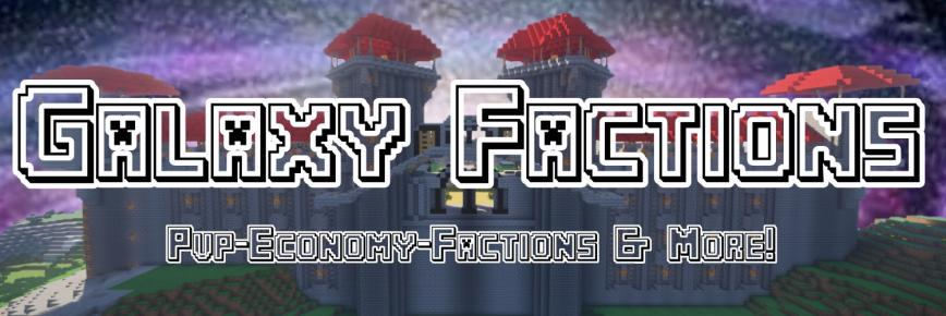 Banner for GalaxyFactions Minecraft server