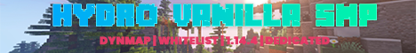 Banner for Hydro Vanilla SMP server