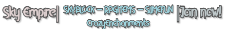 Banner for Sky Empire server