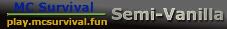 Banner for MC Survival server