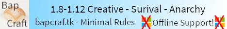 Banner for Bapcraft server