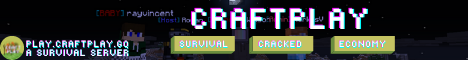 Banner for play.craftplay.gq server