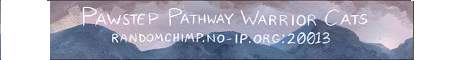 Banner for Pawstep Pathway Warrior Cats Minecraft server