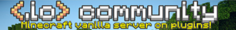 Banner for io Community Vanilla SMP Server Minecraft server