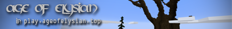 Banner for Age Of Elysian - Cracked - Towny - Slimefun server