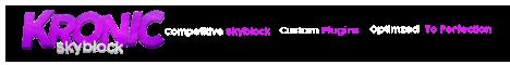 Banner for Kronic - Skyblock server