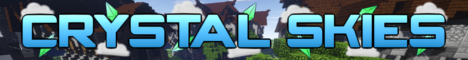 Banner for Crystal Skies Minecraft server