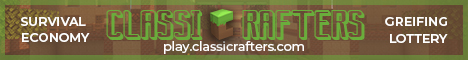 Banner for CLASSICRAFTERS Minecraft server
