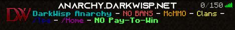 Banner for DarkWisp Anarchy server