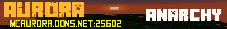 Banner for Aurora Minecraft server