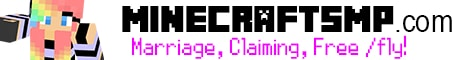 Banner for Minecraft SMP // Marriage, Land Claiming, Free /fly! Minecraft server