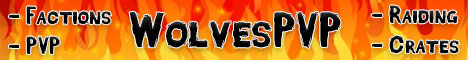 Banner for WolvesPVP Minecraft server